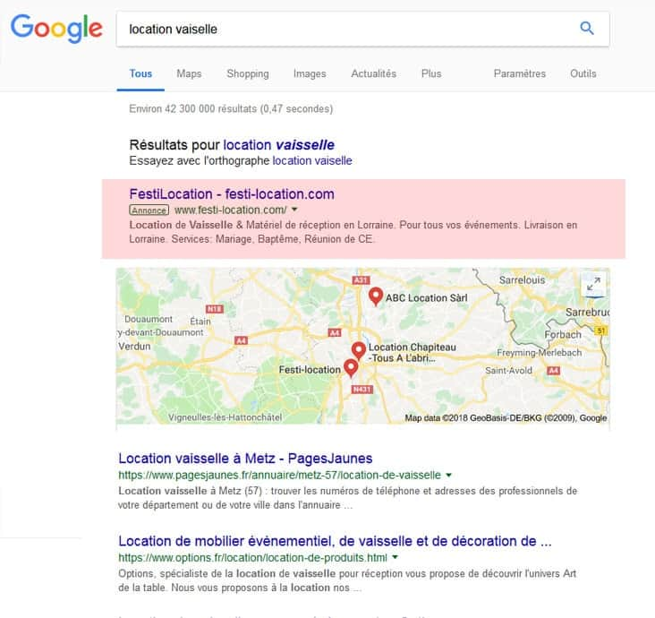 publicité google ads