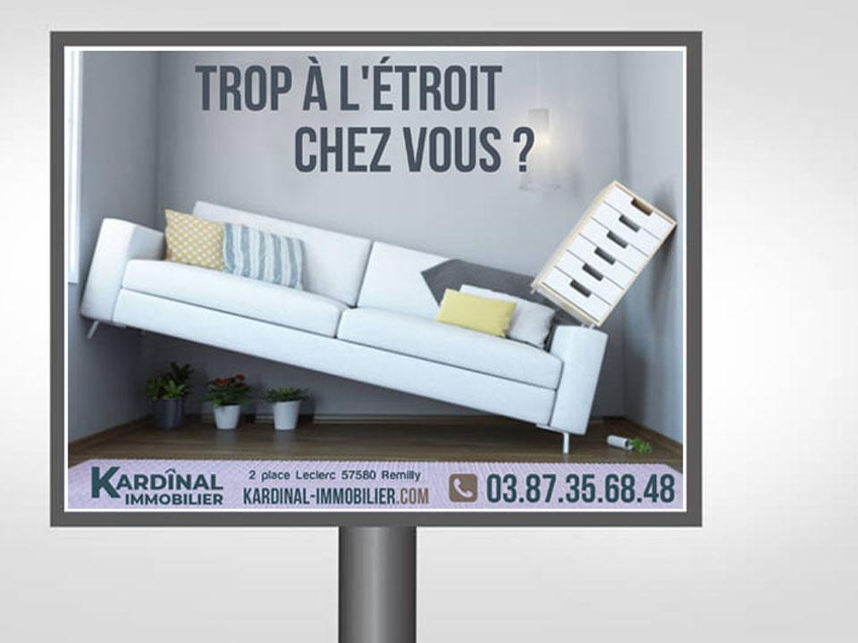 conception graphique, campagne affichage 4x3 metz