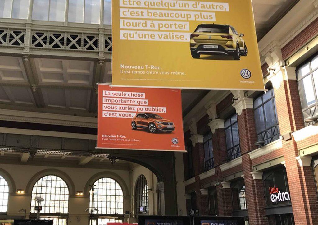 publicité dans les gares, publicité aéroports, campagne publicitaires gares