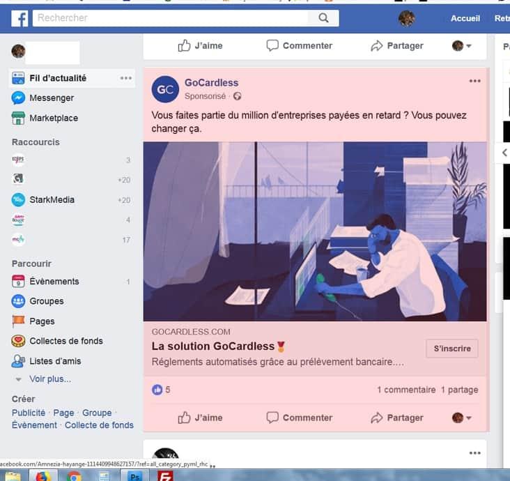 publicité réseaux sociaux, instagram, facebook, google