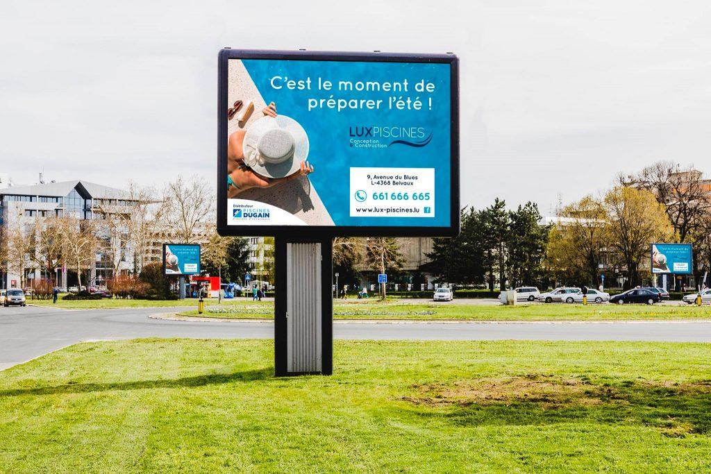 campagne publicitaire d'affichage