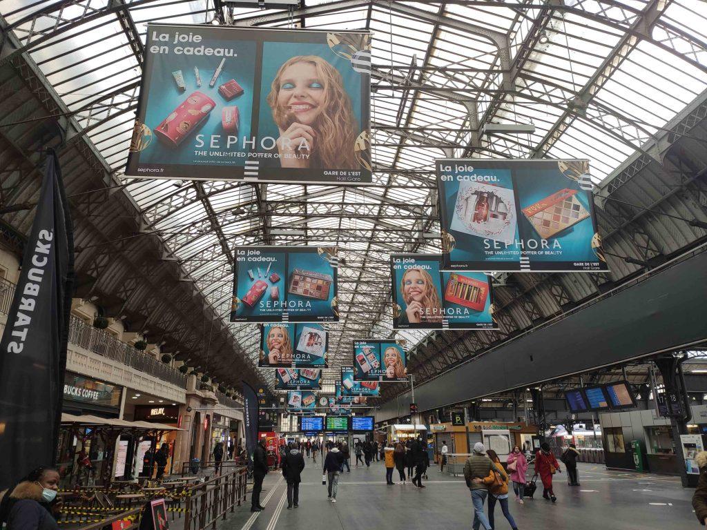 affichage gare de l'est, campagne publicitaire gare de l'est, dooh, ooh gare de l'est