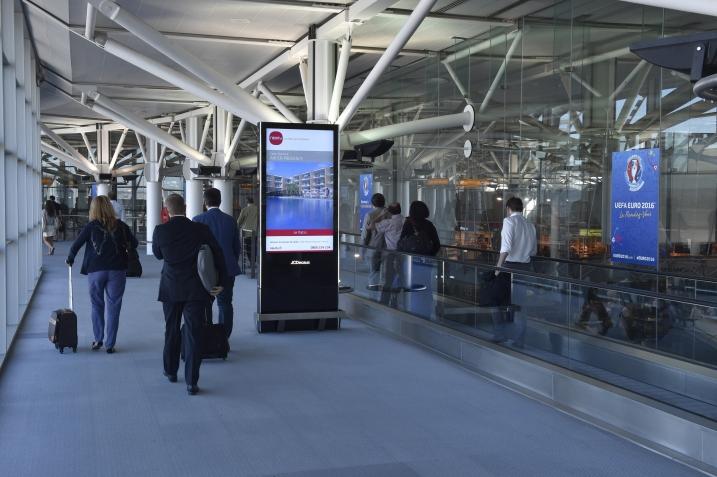 affichage publicitaire aéroport